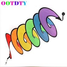 Camping Outside Tent Foldable Rainbow Spiral Windmill Wind Spinner Home Garden Decor MAR31_40