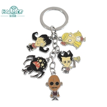 Halder Don't Starve Do Not Starve Cosplay Figures Charms Key Chains Wilson Phone Strap Trinkets Accessories Gadgets Keychain(China)