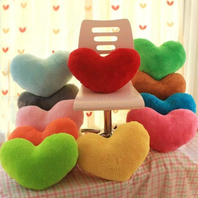 Colorful Love Heart Plush Toys Wedding Gift Stuffed Pillow Soft Cushion 45cm<br><br>Aliexpress