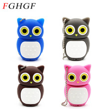 FGHGF Beautiful owl usb flash drive pen drive 4GB 8GB 16GB pendrive memory stick usb 2.0 U disk usb creativo 4 colors