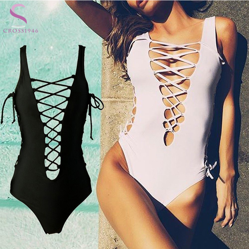 Hot Women Bikinis Sexy Cross Brazilian Women Swimwear Beach Bathing Suit Push Bikini Set Halter Top Bandage Swimsuits 2 Color