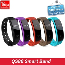 Original QS80 Bluetooth Smart Band Bracelet Wristband Heart Rate and Blood Pressure Sleep Monitoring for IOS Android Smartphone(China)