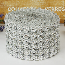 Buy Mesh Trim Bling Diamond Wrap 24 Rows Crystal drill 10 yard Crystal Ribbons Wedding Party Decoration event party DIY supplies T35 for $12.66 in AliExpress store