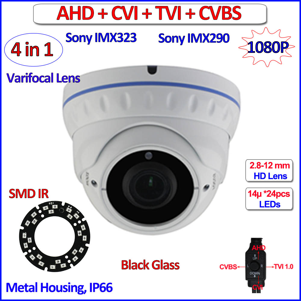 2MP Night Vision 4in1 security camera outdoor 1080P AHD-H HDCVI HDTVI CVBS cctv camera AHD, Varifocal Lens, OV sensor, OSD, WDR<br>