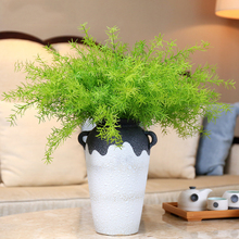 Hoomall Grass Artificial Plants Plastic Flowers Household Store Decoration Clover Plant Garden Arrangement Decor For Home Office(China)