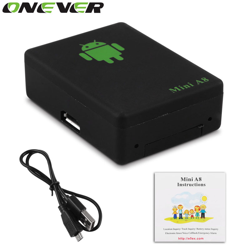 onever 1pcs lbs tracker mini a8 tracker global real time gsm security auto tracking device with sos button for cars kids pets