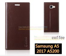 Original Aimak Brand Top Quality Genuine Leather Stand Fashion Book Style Phone Case For Samsung Galaxy A5 2017 A5200 Flip Cover(China)