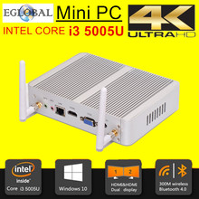 6th Gen i3 6100U Eglobal Nuc Windows 10 Mini PC Micro PC Barebone Computer HD 520 Graphics 4K HTPC 300M Wifi Bluetooth VGA HDMI