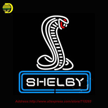 2017 Hot Neon Sign Shelby Cobra Centered Real Glass Tube Handcrafted Recreation Room Home Iconic Sign Publicidad Neon 24x24