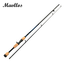 Mavllos 1.8m Lure Weight 6-12g M Carbon Fiber Saltwater Cheap Fishing Casting Spinning Rod Carp Ul Light Fishing Rod 2 Section(China)