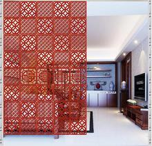 Biombo Hanging wall panels stylish mobile wood entrance living room bedroom hotel restaurant minimalist modern Chinese carved(China)