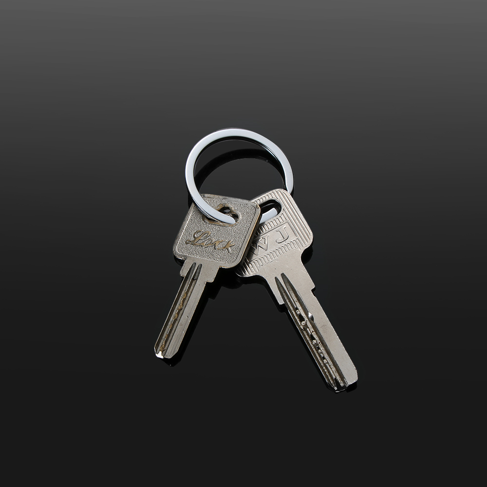 New Clasps Connectors 32mm Keychain Chain Loop Stainless Steel Split Key Ring