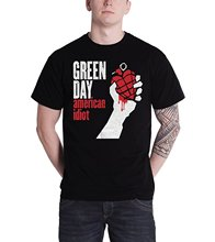 New Design Cotton Male Tee Shirt Designing Green Day T Shirt American Idiot Band Logo Official Mens New