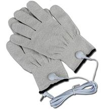 5 pairs/lot hand massage anti-skid ESD conductive silver fiber gloves with 5 electrode line cables free shipping(China)