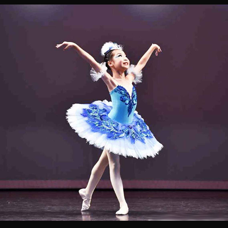 Customized Girl Blue Bird Ballet Tutu Dresses,Ballet Dress Design Dance Tutu,Best Selling Anna Shi Classical Spandex  Stage Tutu