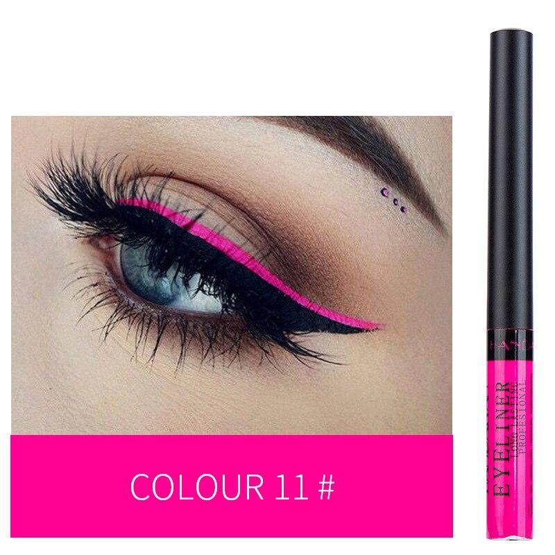 12 Color Eyeliner Liquid Waterproof Easy To Wear Make Up Matte Eye Liner Blue Red Green White Gold Brown Eyliner 13