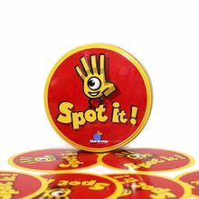 Spot It with metal box factory made high quality paper with colorful box, cards game, board game