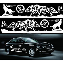 1 Set Car Styling Wolf Totem Car Sticker Auto Body Side Wolf Decal Emblem Vinyl Personality Sticker(China)