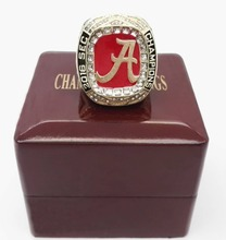 Bottom Price High Quality 2016 Alabama Crimson Tide SEC Football Championship Ring Size 9 to 13 with Wooden Boxes