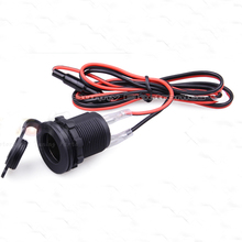 New Waterproof 12V 24V Motorcycle Cigarette Plug Car Cigarette Boat Tractor Cigarette Lighter Power Socket Plug(China)