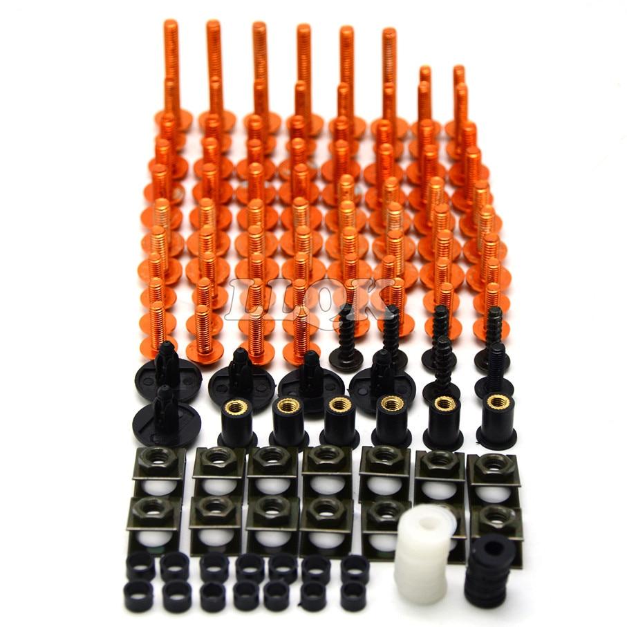 Universal CNC Motorcycle Fairing body work Bolts Fastener Clips Screws For KTM 950 ADVENTURES SMC  duke 390 duke 200 duke 125<br>