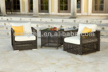 2017 Rattan Furniture for Garden Poly Wicker Furniture Sofa Chair set