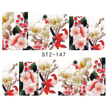 1pcs Nail Art Beauty Birds and Blooms Designs Full Cover Sticker on Nails Water Transfer Decals Decorations DIY Tools STZ147