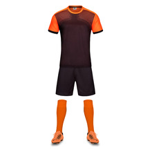 Free Shipping New Model 2017 Men's Soccer Jerseys Orange Adult Student Soccer Training Suits Uniforms Sports Football Team Shirt