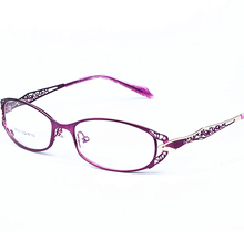 High Quality Women Metal Eyewear Frame Hollow out Optical Prescription Eyeglasses  Ultra-light Glasses Frame