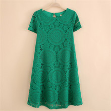 Fashion Women High Quality Summer Elegant Women Lady Lace Dress Flower Lace Short Sleeve Rock Yards Girls Mini Dress V2 H2