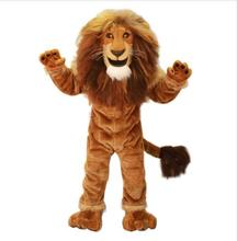 Power Male Lion King Mascot Costume Adult Wild Animal Theme Carnival Party Cosply Mascotte Suit Fancy Dress EMS FREE SHIP