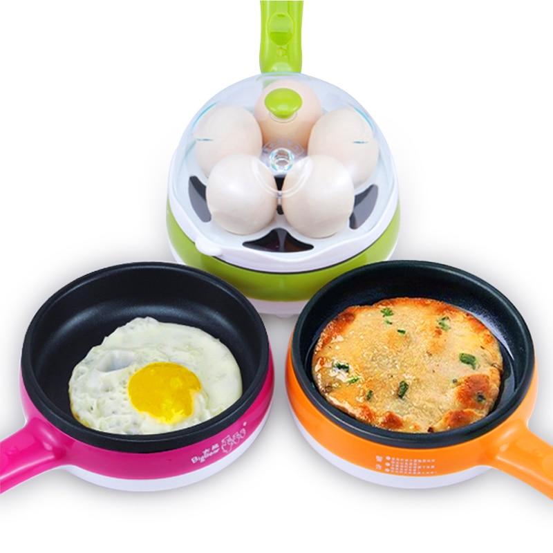 220V Multifunction Non-Stick Electric Frying Pan Egg Omelette Pancakes Steak Egg Boiler Electric Skillet<br>
