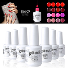 Elite99 Professional Organic UV Builder 3D Nail UV Gel Polish Hot Sale Choose 1 Nail Lacquer From 241 Colored Available 15ml(China)