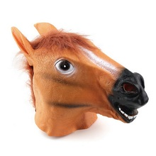 Creepy Horse Mask Head Halloween Costume Theater Prop Novelty Latex Rubber Drop Shipping