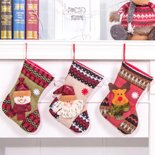 Gift For New Year 2018 Christmas Decor Party Decorations Santa Claus Stocking Candy Socks Christmas Gifts Bag For Home #BF(China)