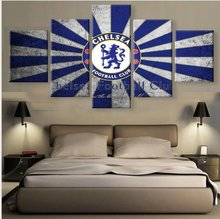 5 Pieces Modern HD Print Canvas Art Chelsea Football Club Paintings on Canvas Wall Art for Home Decorations Wall Art Decor