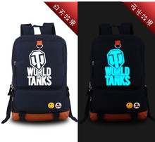 High Quality New 2017 Game WORLD OF TANKS Luminous Military Printing Backpack Canvas Men's backpacks school bags for teenagers