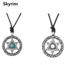 Skyrim Punk Adjustable Rope Chain With Star of David Charm Trendy Jewelry Pendant Necklace Viking Hebrew Jewish Religious Dangel