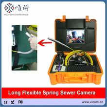 Flexiable long spring video inspection camera 23mm sewer pipe inspection camera(China)