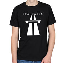 LEQEMAO KRAFTWERK AUTOBAHN COMPUTER SYNTH 80S ELECTRONIC PUNK ROCK GERMAN CLASSIC BAND T-shirt Hot New Summer Fashion T Shirts(China)