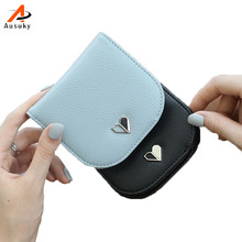 women wallets and purses heart Purse 2 fold Short Wallet Bags Handbags Card Holde tarjetero mujer billeteras mujer marca 15