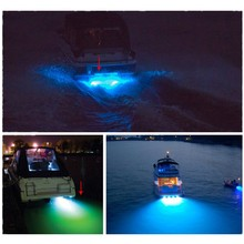 waterproof led Boat marine Drain Plug LED  9W blue Underwater light NEW Simple to Install