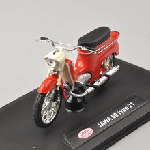 mini motorcycle mod 1/18 Scale models Red JAWA 50 Type 21 Motorcycle Model Kids Gift Collection Gifts