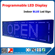 Free shipping outdoor programmable led signs open led advertising display screen 1/4 p10 single blue led display message 27*8''