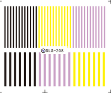 DIY Water Transfer Foils Nail Art Sticker Fashion Nails Barcode Striped Manicure Decals Minx Cute Nail Decorations(China)