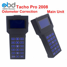 Tacho Pro Odometer Correction Universal Programmer Super TACHO PRO 2008 Unlock Mileage Programmer Main Unit Multi-language