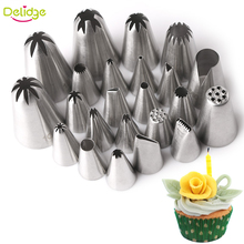 Delidge 1 pc Flower cake nozzle Stainless Steel Tulip Icing Piping Nozzles Decorator Cupcake Sugar Crafting Icing Piping Nozzles(China)
