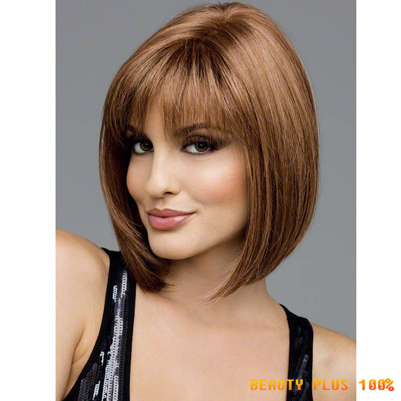 Heat Resistant Synthetic Bobo Blonde Short Straight Hair Wigs for Women Wigs blonde wig for black women<br><br>Aliexpress
