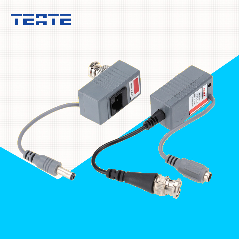TEATE Surveillance Camera Balun ABS Plastic Transceiver BNC UTP RJ45 Video/ Power CAT5/5E/6 Cable Security Accessories TE-G05CAB(China)