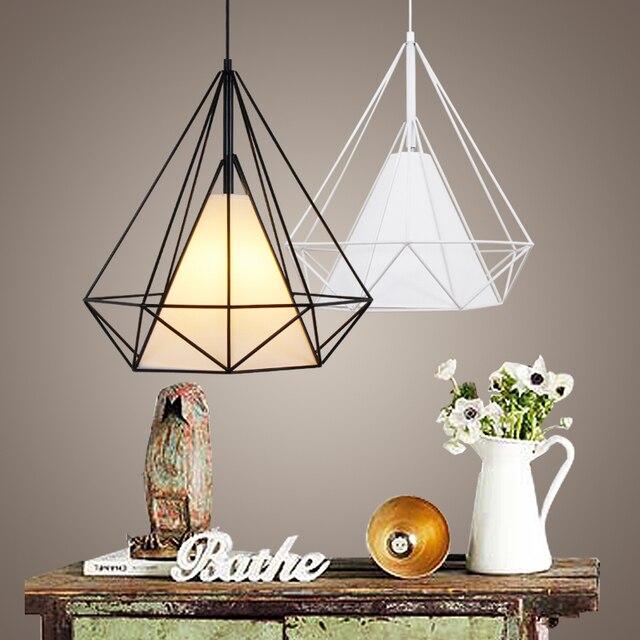 Aliexpress Com Buy Modern Metal Birdcage Pendant Light Black Minimalist Pendant Lamp E